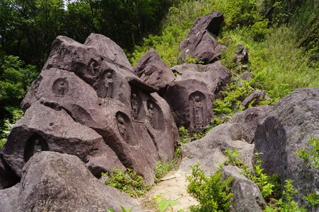 historic sites: Stone Statues in Hakone