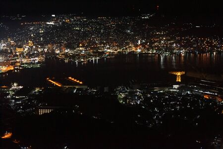The night view of Nagasaki who wishes from Inasayama observatory