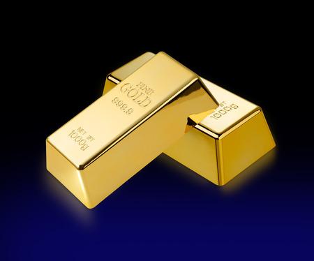lingote de oro: Barras de oro de barras de oro y dos de 1.000 g