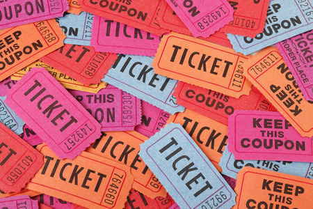 Colorful ticket background