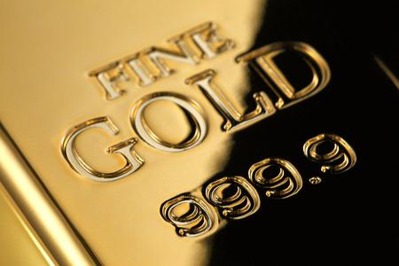 shiny gold: Gold ingotFINE GOLD 999.9