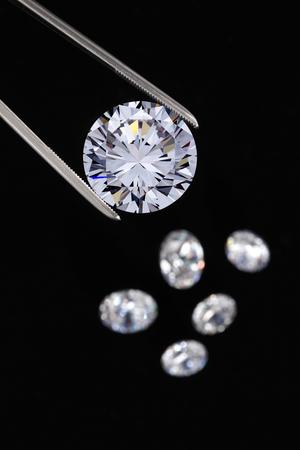 Diamanten sieraden Stockfoto