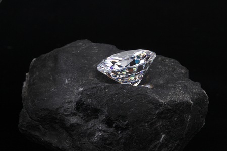 Ruwe diamant Stockfoto