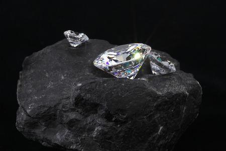 Ruwe diamant Stockfoto