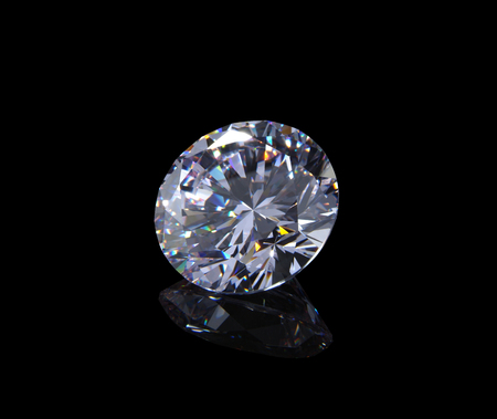 round diamond isolated on black background