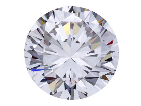 白い背景の上のダイヤモンド宝石 写真素材