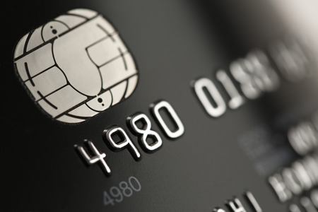 Credit card close up Stock Photo