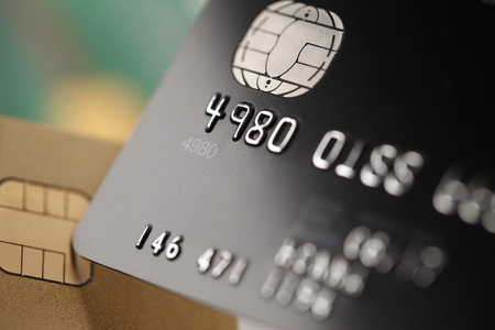 Cartes de crédit de près Banque d'images - 45603026