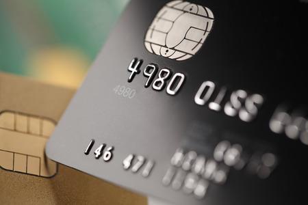Credit cards close up 版權商用圖片