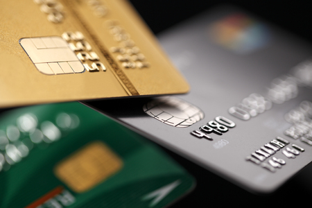 credit cards: Credit cards close up Stock Photo
