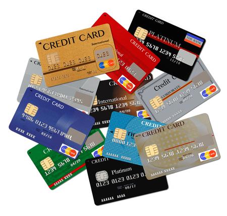 tarjeta de credito: Las tarjetas de crédito  Foto de archivo