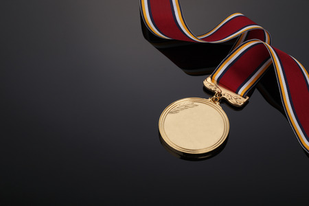 gold colour: Gold medal on Black background