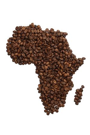 아프리카 국가는 커피로 만든 스톡 콘텐츠