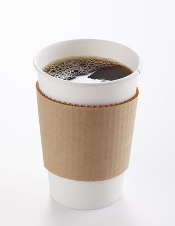 taza cafe: Papel taza de café aislada