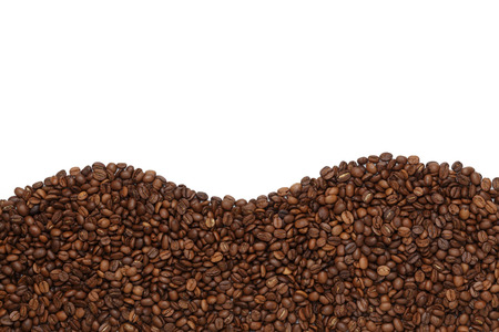 white color: Coffee Beans isolated on white