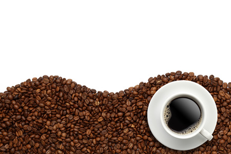 Tazza di caffè in grani Archivio Fotografico - 45602554
