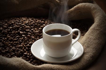 Café caliente Foto de archivo - 45602217