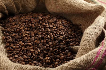 coffee sack: coffee beans