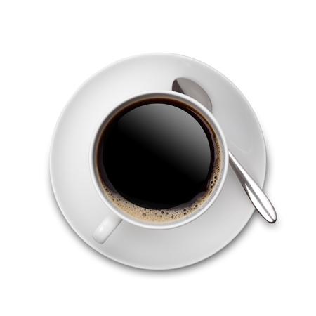 ホワイト コーヒー 写真素材