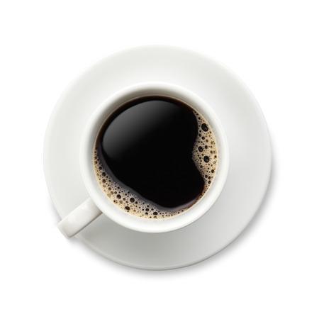 Coffee on white Фото со стока