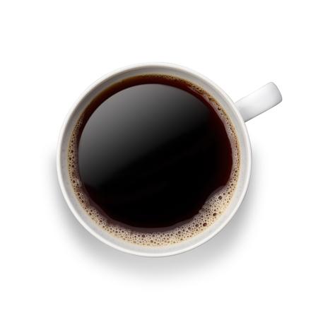 Coffee on white 版權商用圖片