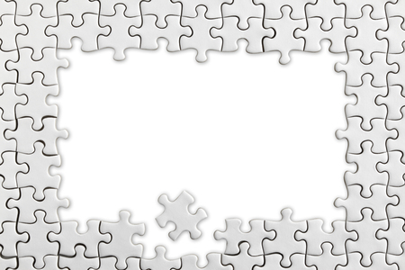 Jigsaw frame 스톡 콘텐츠