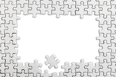 Jigsaw frame Foto de archivo