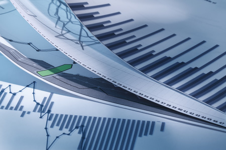 data line: graphs and charts Stock Photo