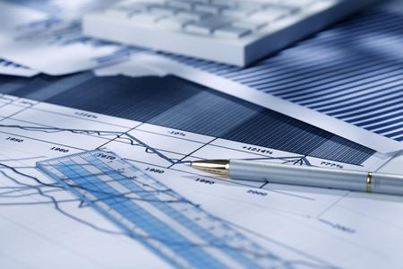 charts graphs: graphs and charts Stock Photo
