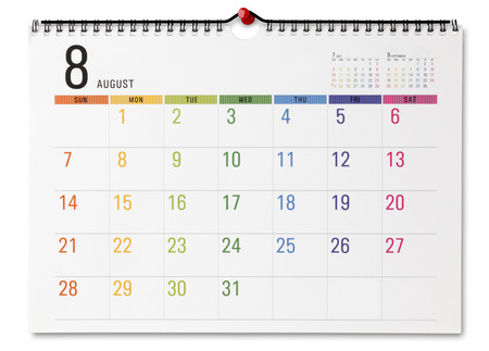 Bunter Kalender Standard-Bild