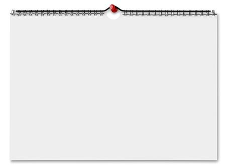 Blinde muur kalender Stockfoto