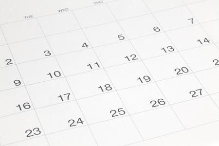 Calendar Foto de archivo