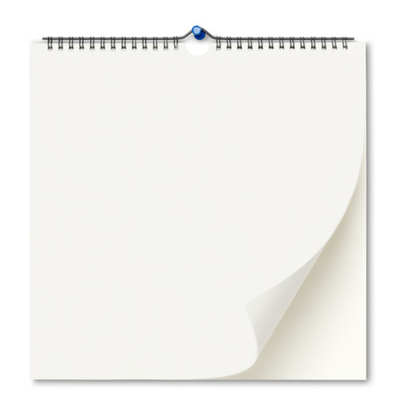 calendario: El calendario de pared en blanco