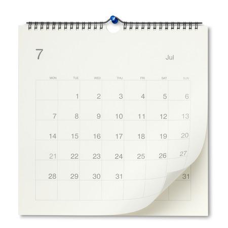 Wall calendar Standard-Bild