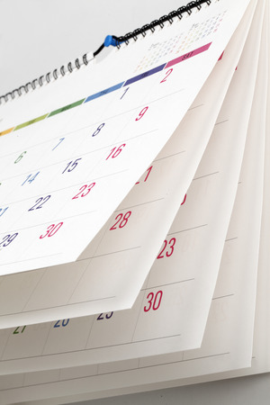 the calendar: Calendario colorido