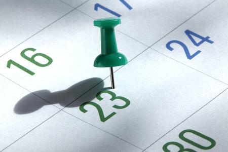 calendario: página del calendario Foto de archivo