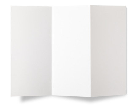 white paper: Blank paper on white.