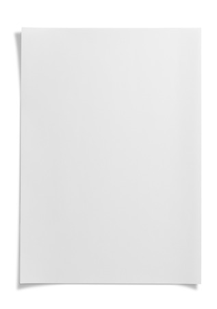 Blank paper on white  Banque d'images