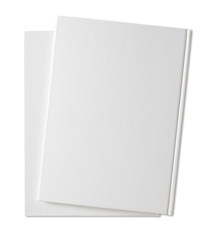 Blank Book auf weißem background.with Beschneidungspfad Standard-Bild