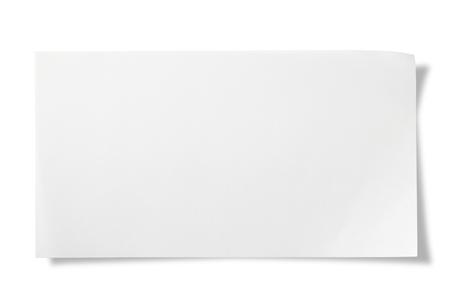 Blanco papier op wit