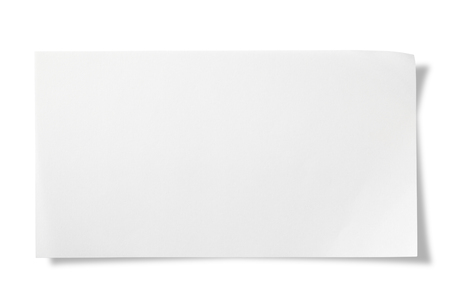 white paper: Blank Paper on white