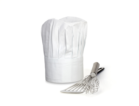 Chef Hat and utensils Stock Photo