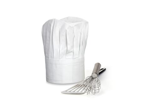 Chef hoed en gebruiksvoorwerpen Stockfoto
