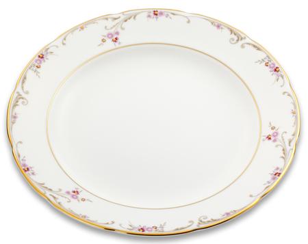 flatware: Vintage dish on white background. Stock Photo