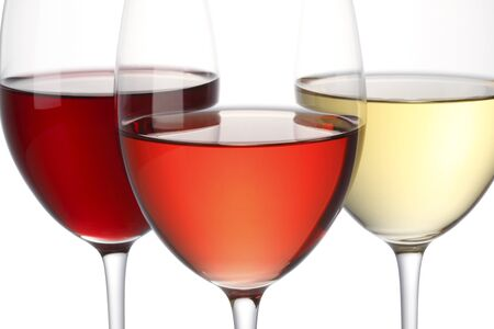 ワインの 3 色 写真素材