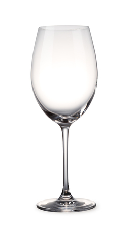 Empty Wine glass with clipping path Banco de Imagens