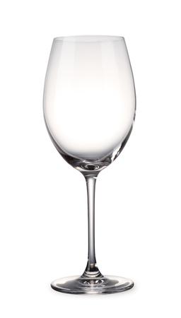 Leeg glas van de wijn met het knippen van weg