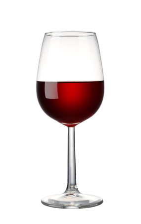 Red wine isolated on white background with clipping path Foto de archivo