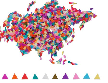 eurasia: Map of Eurasia made of confetti and with clipping path Stock Photo