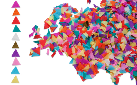 europe map: Map of Europe made of confetti and with clipping path